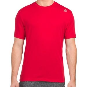 REEBOK CREW NECK MEN'S RED T-SHIRT SIZE M
